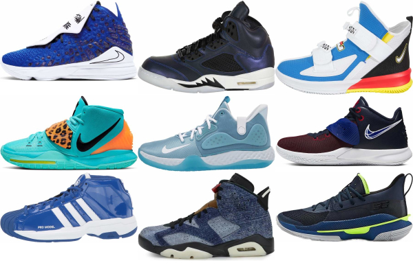 buy blue basketball shoes for men and women