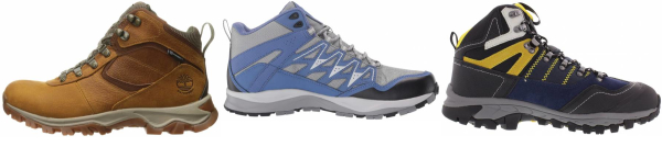 buy blue cheap hiking boots for men and women