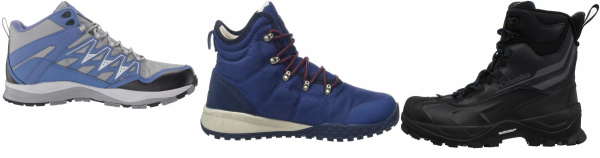 buy blue columbia hiking boots for men and women