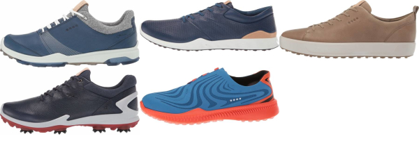 buy blue ecco golf shoes for men and women
