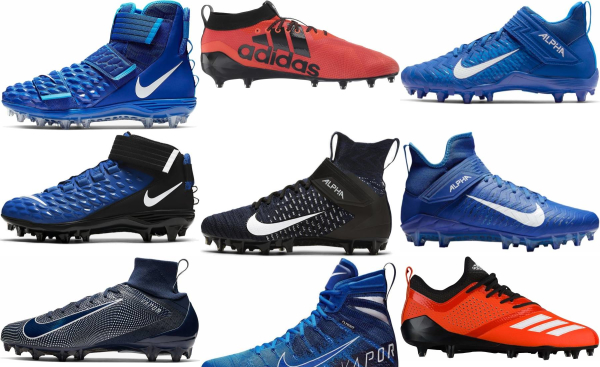 buy blue football cleats for men and women