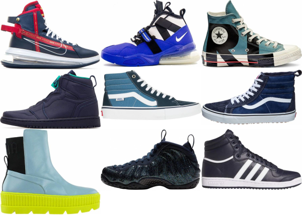 buy blue high top sneakers for men and women