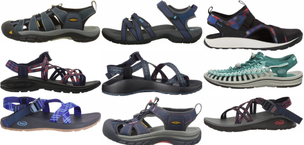 buy blue hiking sandals for men and women