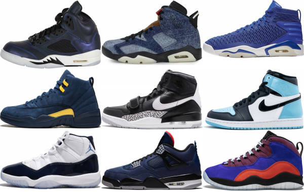 buy blue jordan basketball shoes for men and women