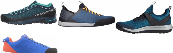 buy blue knit upper approach shoes for men and women