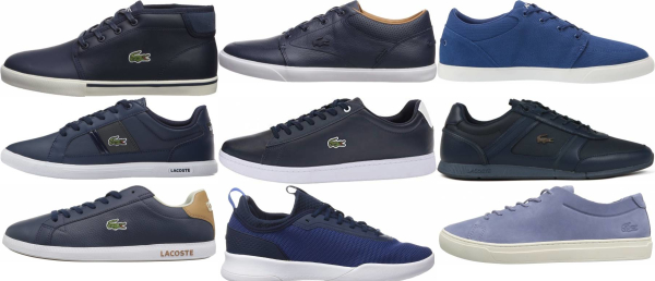 buy blue lacoste sneakers for men and women