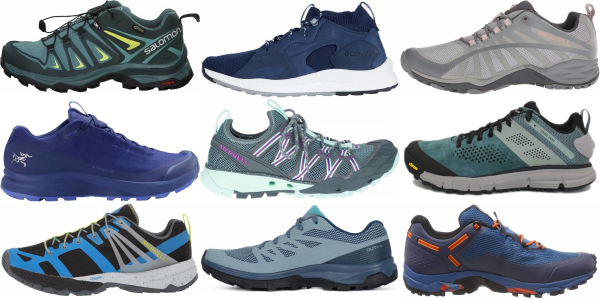 buy blue lightweight hiking shoes for men and women