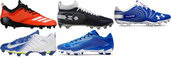 buy blue low football cleats for men and women