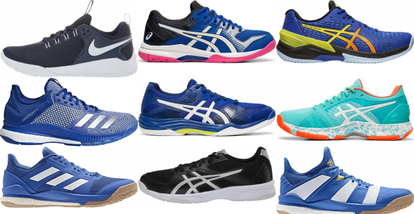 buy blue low volleyball shoes for men and women