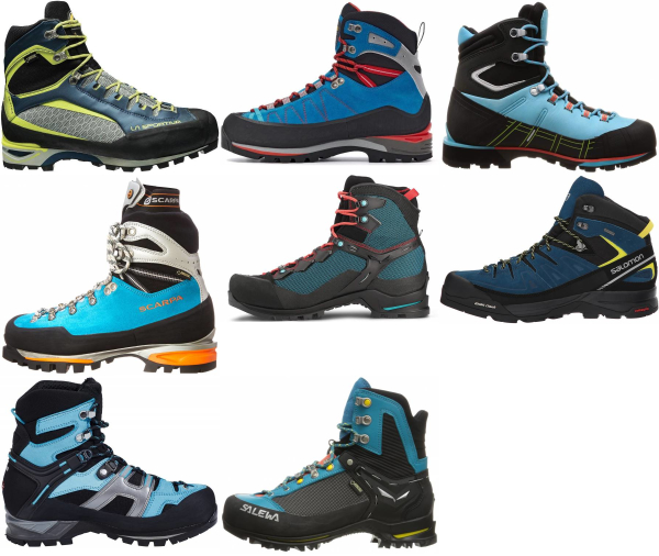 buy blue mountaineering boots for men and women