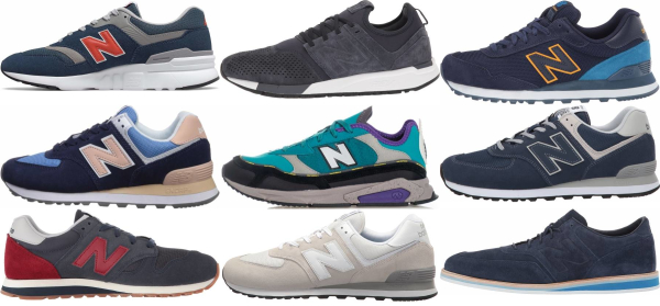 buy blue new balance sneakers for men and women