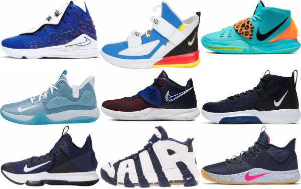 buy blue nike basketball shoes for men and women