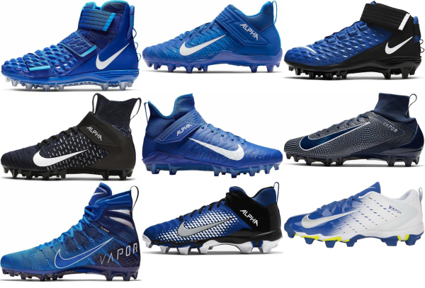 buy blue nike football cleats for men and women