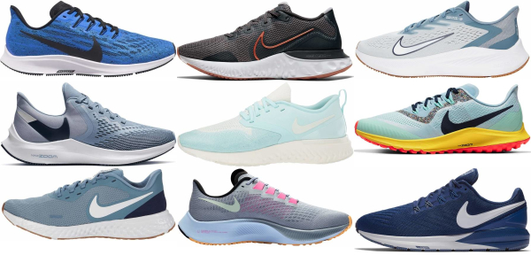 buy blue nike running shoes for men and women