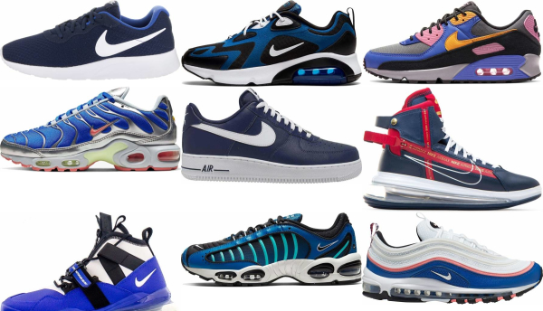 buy blue nike sneakers for men and women
