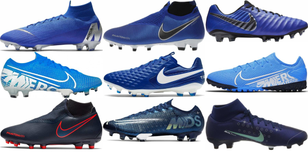 buy blue nike soccer cleats for men and women