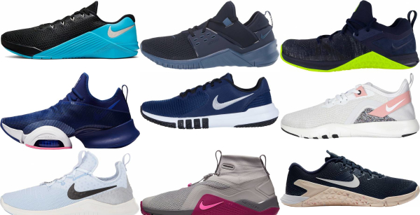 buy blue nike training shoes for men and women