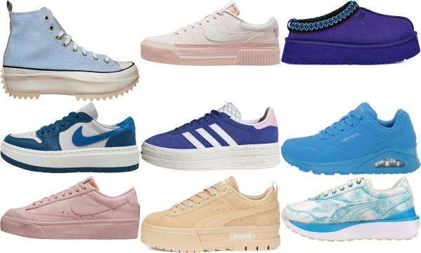 buy blue platform sneakers for men and women