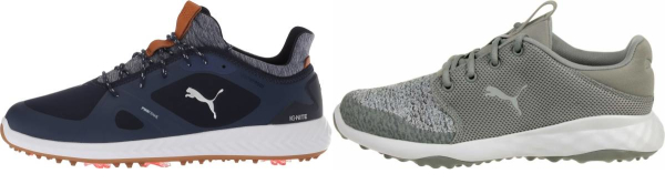 buy blue puma golf shoes for men and women