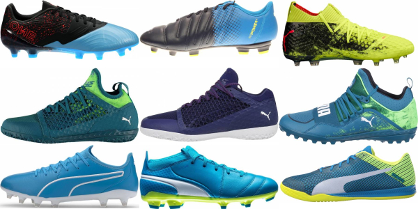buy blue puma soccer cleats for men and women
