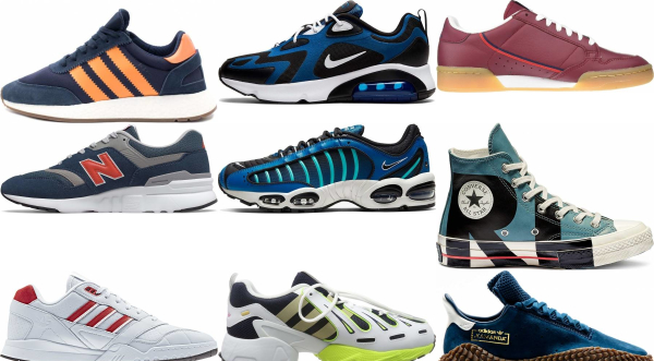 buy blue retro sneakers for men and women