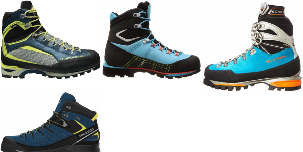 buy blue rubber sole mountaineering boots for men and women