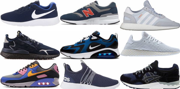 buy blue running sneakers for men and women