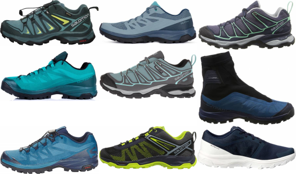 buy blue salomon hiking shoes for men and women