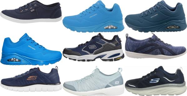 buy blue skechers sneakers for men and women