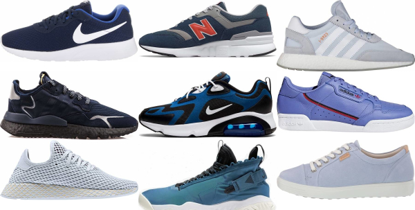 buy blue sneakers for men and women
