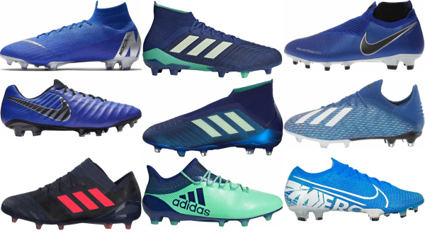 buy blue soccer cleats for men and women