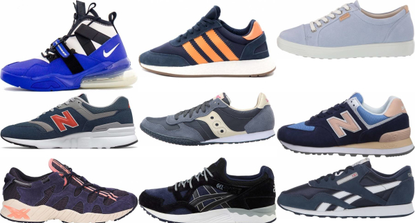 buy blue suede sneakers for men and women