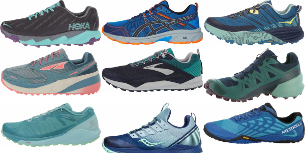 buy blue trail running shoes for men and women