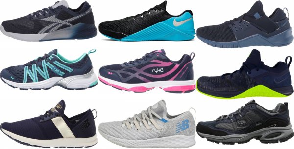 buy blue training shoes for men and women