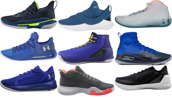 buy blue under armour basketball shoes for men and women