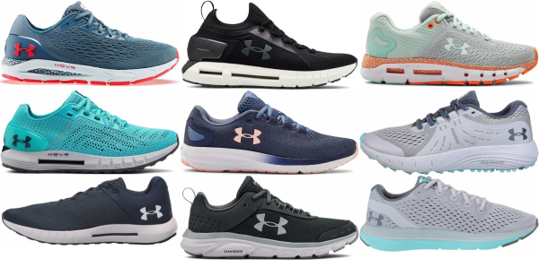 buy blue under armour running shoes for men and women