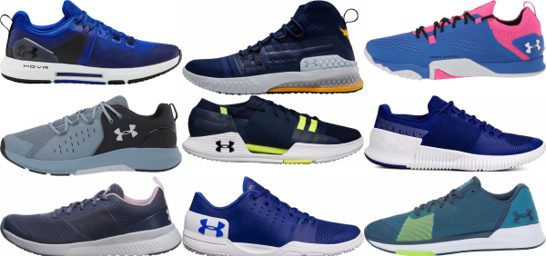 buy blue under armour training shoes for men and women