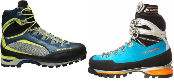buy blue vibram sole mountaineering boots for men and women