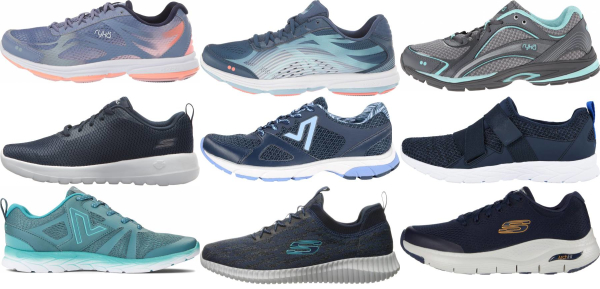 buy blue walking shoes for men and women
