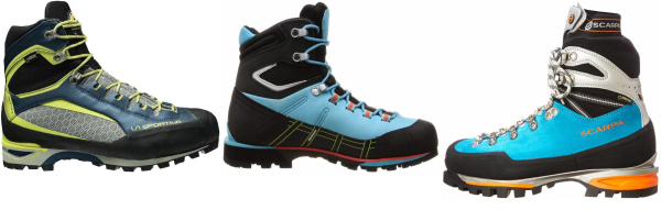 buy blue winter mountaineering boots for men and women