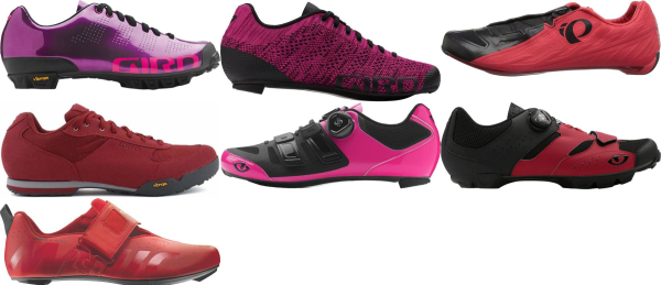 buy breathable red cycling shoes for men and women