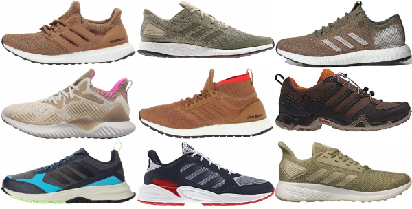 buy brown adidas running shoes for men and women