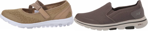buy brown cobblestone walking shoes for men and women
