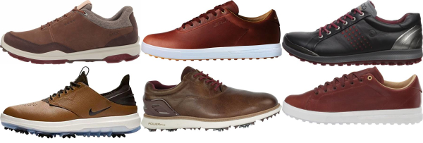 buy brown golf shoes for men and women