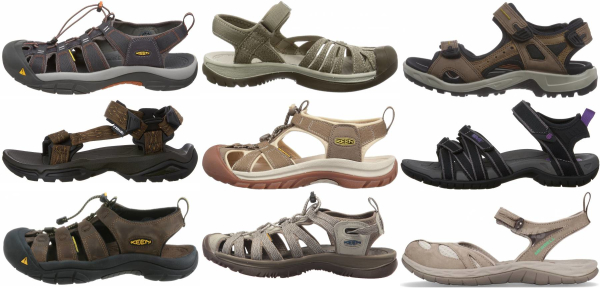 buy brown hiking sandals for men and women