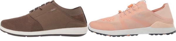 buy brown knit upper walking shoes for men and women