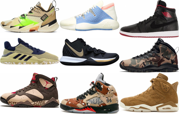 buy brown lace-up basketball shoes for men and women
