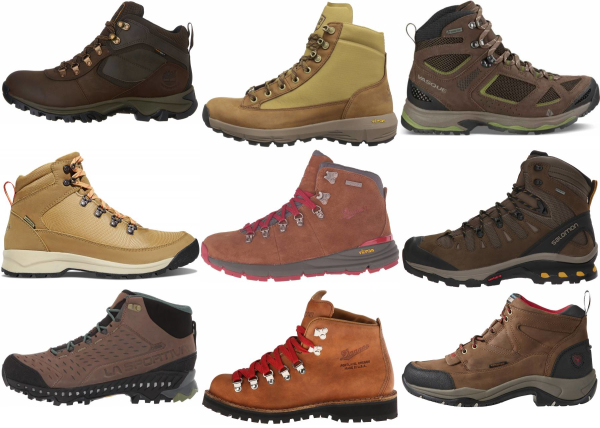 buy brown leather hiking boots for men and women