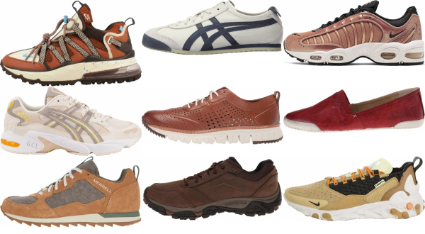 buy brown leather sneakers for men and women