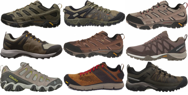 buy brown lightweight hiking shoes for men and women